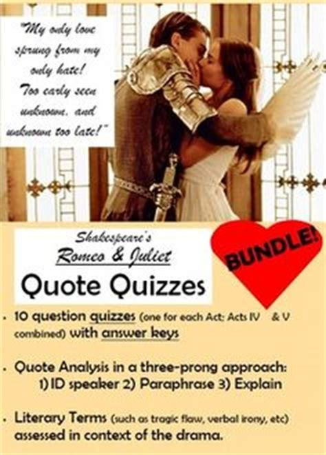 Romeo And Juliet Quote Identification Answers
