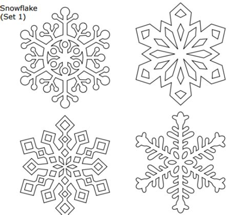 printable snowflake patterns pdf contemporary snowflakes templates picture collection