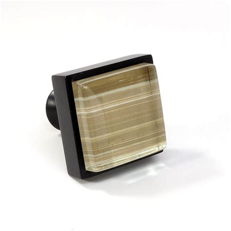 Square Drawer Knobs by Glass Black Metal Square Knob Modern Cabinet