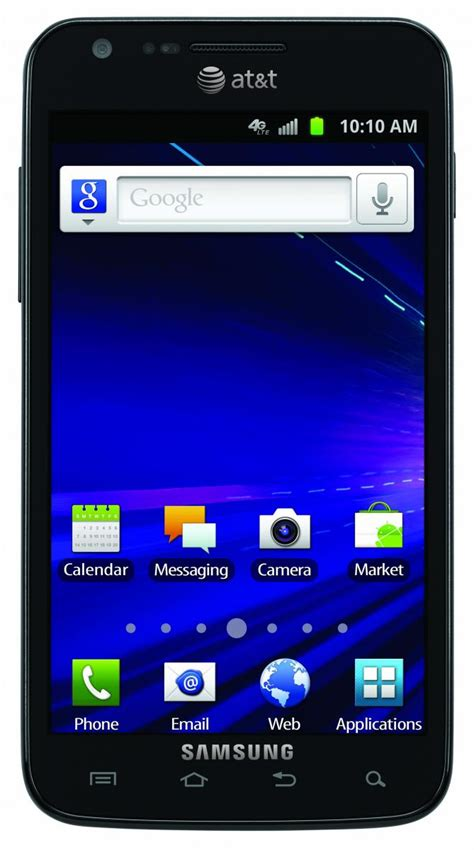 at t android at t gets its lte smartphones the samsung galaxy s ii skyrocket and htc android