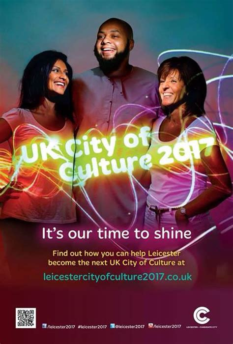 poster design leicester leicester city of culture 2017 bid poster design we live