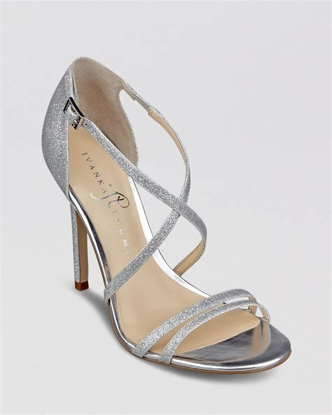 ivanka high heels ivanka evening sandals duchess high heel in silver