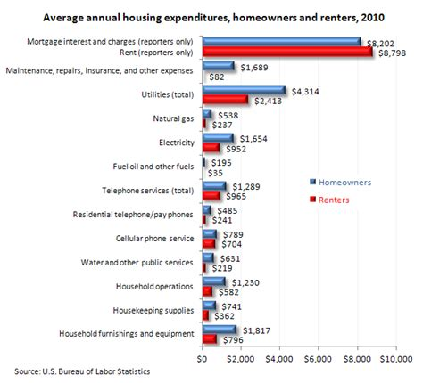 consumer expenditures by homeowners and renters 2010