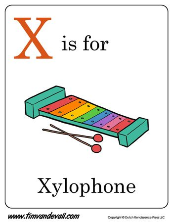 x is for xylophone | letter x coloring page pdf