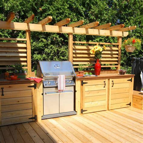 cuisine ext駻ieure deck de piscines on shade structure metal