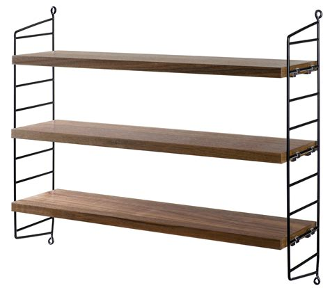 String Pocket Shelf string pocket shelf black walnut shelves by string furniture