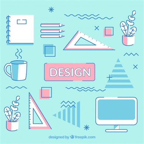 flat design free vector flat design elements background vector free download