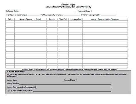 Community Service Log Students Must search results for volunteer log hours sheet calendar 2015