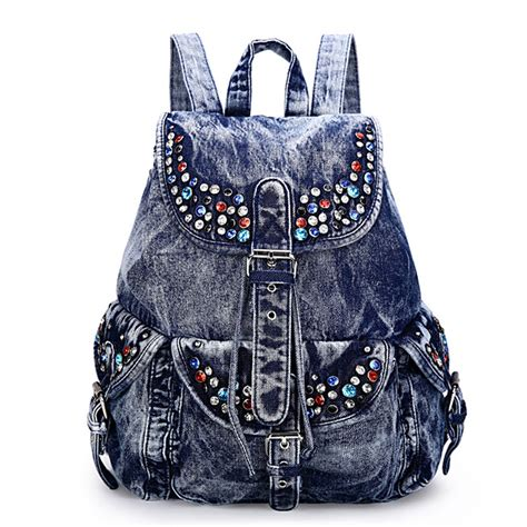 7 Fashionable Bags For School by 2017 Fashion Backpacks Denim School Bags For