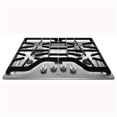 Maytag Gas Cooktops shop maytag 4 burner gas cooktop stainless steel common 30 in actual 30 in at lowes