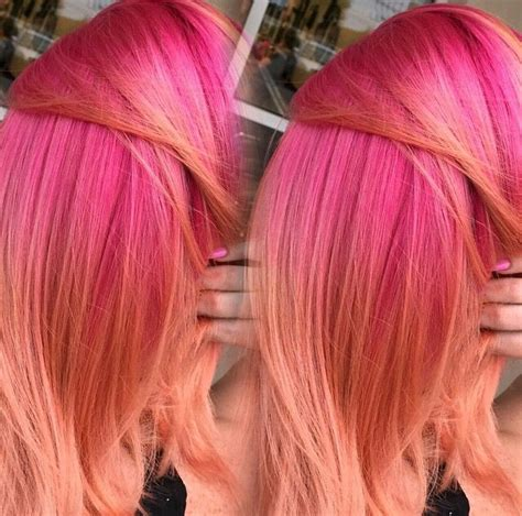 coral hair color pink coral hair melt hair dyes color