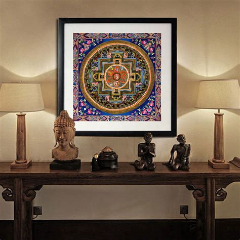 spiritual home decor tibetan thangka mandala art paintings thangka buddha