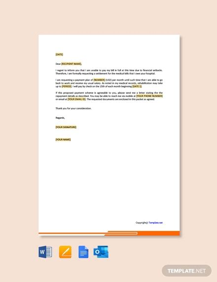 medical hardship letter template word google docs