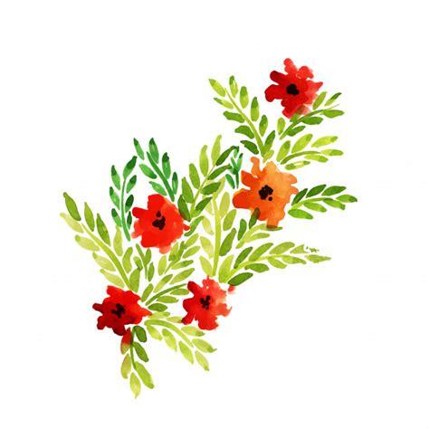 fiori e foglie fiori e foglie floreali dell acquerello disegnato a mano