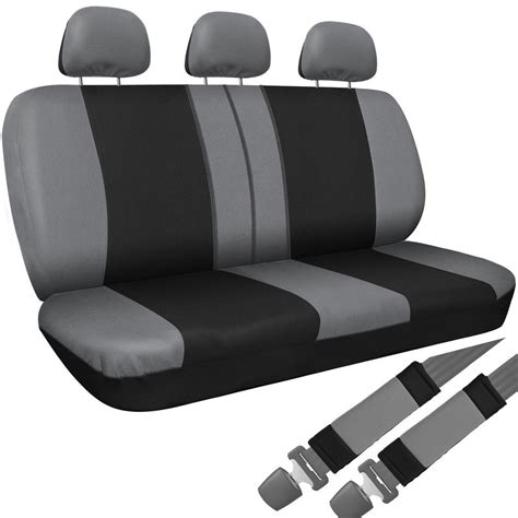 suv bench seat covers suv van truck seat cover gray black 8pc set bench belt pad