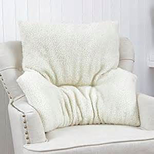 armchair fleece back rest lumbar support aid cushion