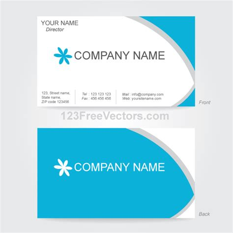 vector business card design template by 123freevectors on