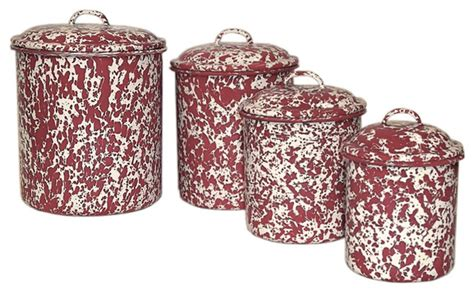 burgundy kitchen canisters crow canyon canisters set of 4 burgundy cream marble