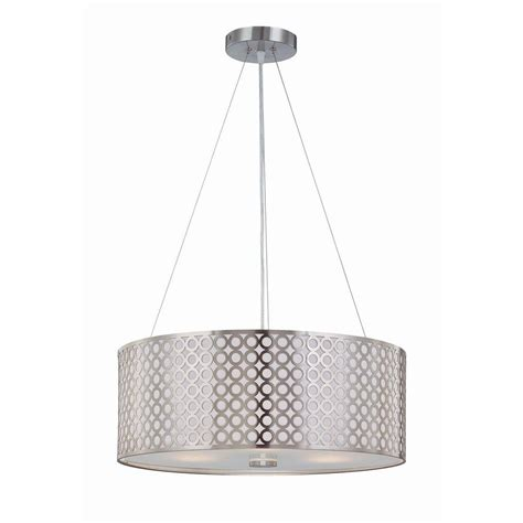 home depot hanging ls illumine rosetta 3 light polished steel pendant with cut