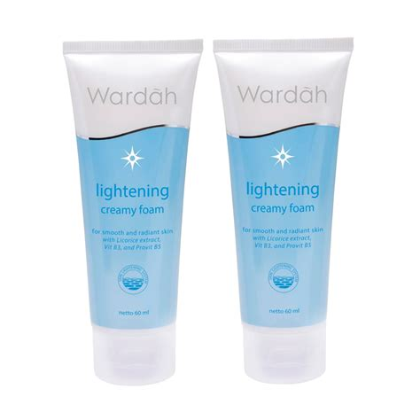 Daftar Pembersih Wajah Wardah wardah lightening series foam gentle wash 60ml elevenia