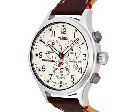 Expedition E6681 Leather Original 2 timex 42mm tw4b04300 expedition scout chrono leather brown ebay