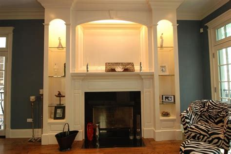 built in bookcase designs bookcase around fireplace photos
