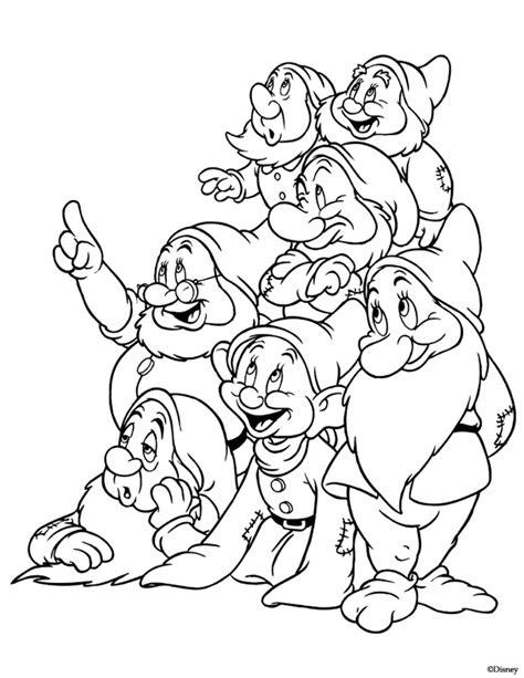 Free Coloring Pages Of Snow White Adult Snow White And The Seven Dwarfs Coloring Pages