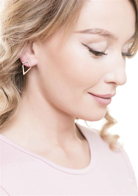 Ear Jackets geometrische ohrstecker ear jacket happiness boutique