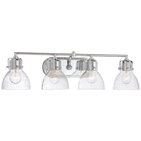 Four Fixture Bathroom Minka Lavery 4 Light Chrome Bath Vanity Light 5724 77 The Home Depot