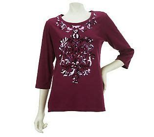 abstract pattern sequin playsuit quacker factory 3 4 sleeve knit t shirt w abstract sequin