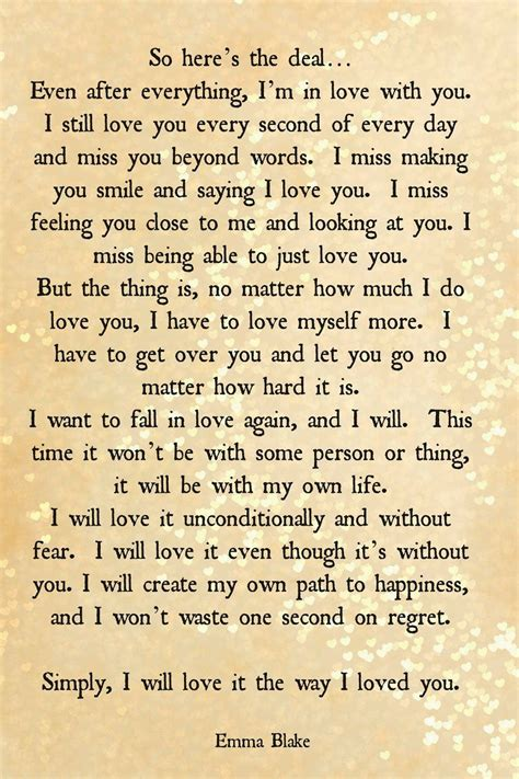 comforting words after break up break up quote getting over someone love quote regret fear
