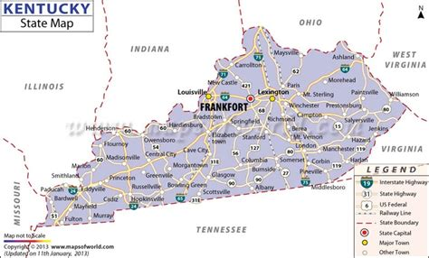 map of the united states kentucky 21 best us states images on pinterest state map road