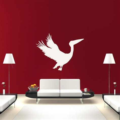 pelican home decor pelican flying silhouette birds feathers wall stickers