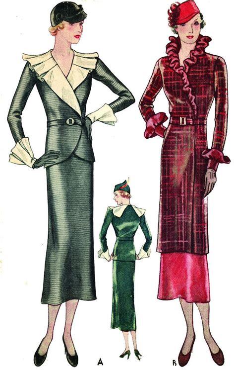 vintage pattern lending library uk 610 best 1930s fashion illustration images on pinterest