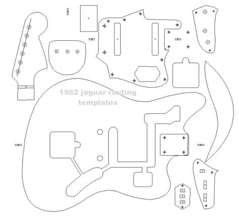 fender 62 jaguar blueprint routing template guitar body