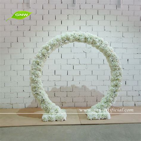 backdrop design for sale gnw wedding stage decoration artificial flower arch white