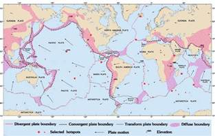map of tectonic plates a map of all tectonic plates and their boundaries