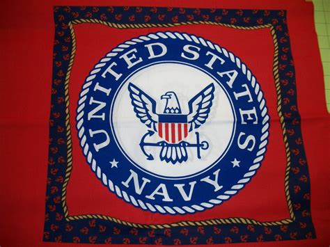 Us Navy Quilt by United States Navy Pillow Fabric Panel Quilts By Electrobags