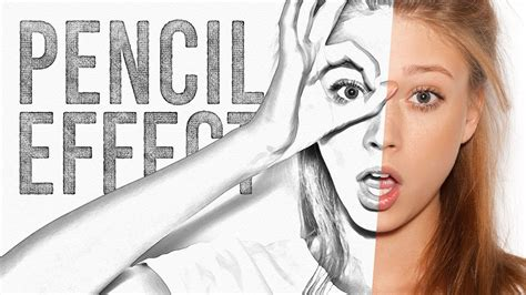 tutorial photoshop drawing effect pencil sketch drawing effect photoshop tutorial youtube
