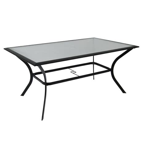 rectangular patio tables garden treasures cascade creek rectangular glass top patio