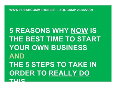 Why Is Now The Right Time For An Mba by Why Now Is The Best Time To Start Your Business Zooc