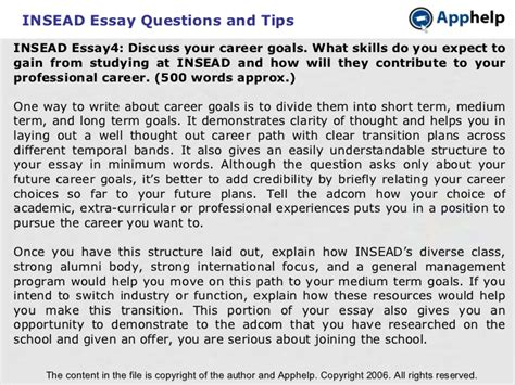 Insead Mba Essay Analysis by Insead Mba Application Essay Questions Pdfeports178 Web