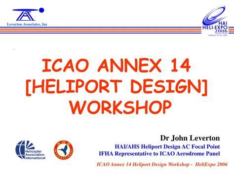 powerpoint design workshop ppt icao annex 14 heliport design workshop powerpoint