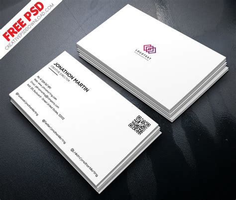 minimalist business card template psd minimalist business card free psd
