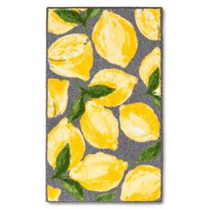Gray And Yellow Kitchen Rugs Lemons Kitchen Rug Gray Threshold Target