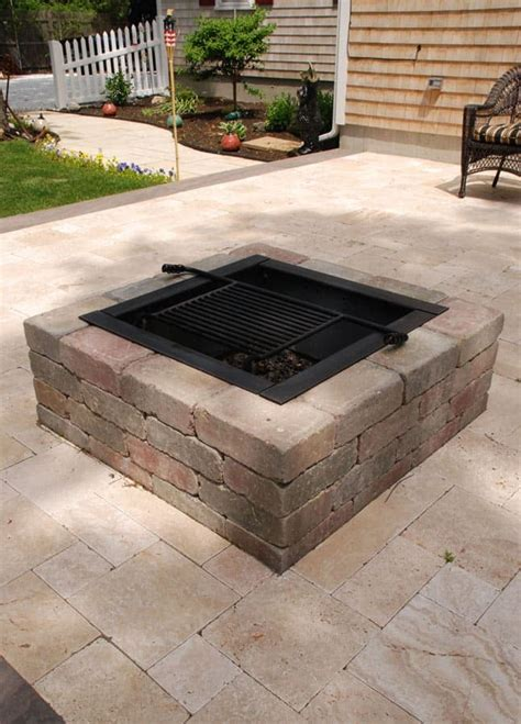 Square Fire Pit Kit Modular Stone Fire Pits Cape Cod Square Firepits