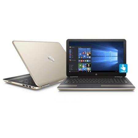 hp laptop pavilion 15 au030wm modern gold touch walmart.com