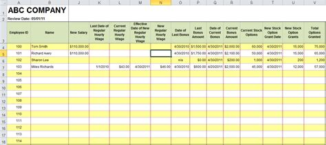 Free Excel Templates For Payroll Sales Commission Expense Reports Billings Human Resources Performance Template Excel