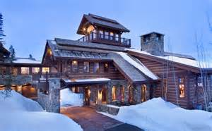 Ski Chalet House Plans by Stone Mountain Chalet With Elevator And Ski Room Modern