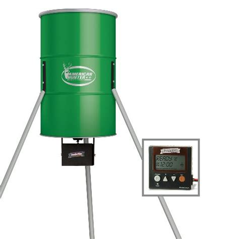 Deer Feeder Timers Academy American 350 Lb Tripod Deer Feeder With Digital